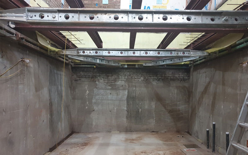 Photo of basement project